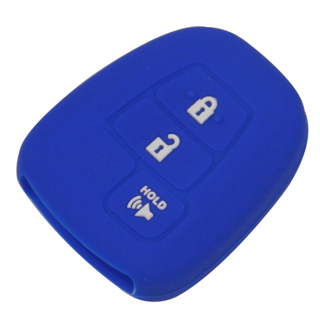 Toyota 3 Button Silicone Key Fob Cover Skin for Prius C, Highlander, RAV4, Yaris