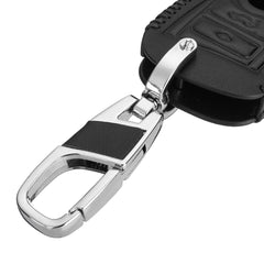 Leather 3 Button Smart Keyless Entry Key Fob Remote Cover Case For BMW  1 3 4 5 6 7 SERIES with Key Chain