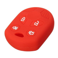 Silicone 4 Button Key Fob Cover Case Skin Jacket for Ford Lincoln Mercury Mazda [SKU: FRDS4B]