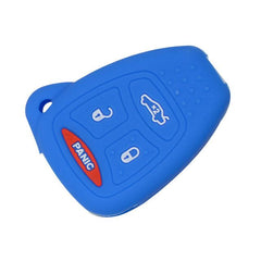 Silicone  4 Button Car Key Fob Case Cover For Chrysler 300, Aspen, Sebring | Dodge Charger, Durango, Ram | Jeep Grand Cherokee, Commander