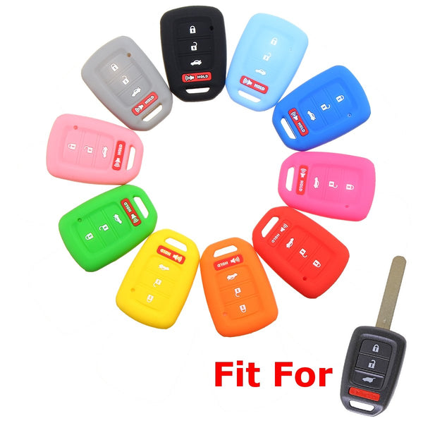 "Silicone Honda 4 Button ""Stick"" Key Fob Cover Case Jacket for Civic, Accord,  (New Version)"