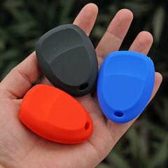 SILICONE 3 BUTTON CAR KEY FOB CASE COVER JACKET SKIN HOLDER FOR Buick, Cadillac, Chevy, GMC, Pontiac, Saturn