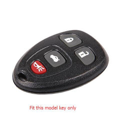 SILICONE 4 BUTTON CAR KEY FOB CASE COVER JACKET SKIN HOLDER FOR Buick, Cadillac, Chevy, GMC, Pontiac, Saturn
