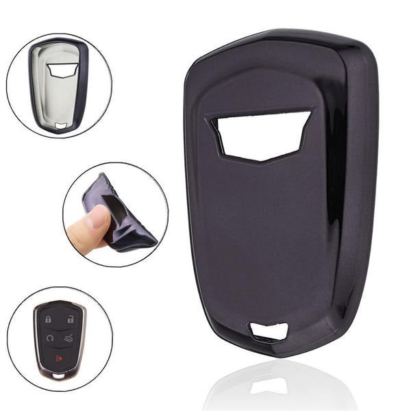 TPU Keyless Entry Smart Key Fob Remote Soft Cover Case Skin For Cadillac, Escalade