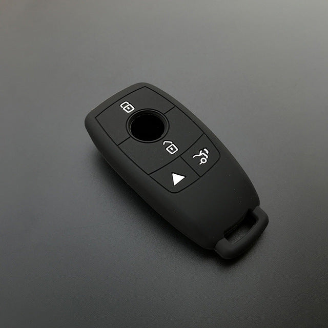 Silicone Rubber 4 Button Protective Smart Key Fob Remote Cover Case Skin Glove for Mercedes Benz E  Class