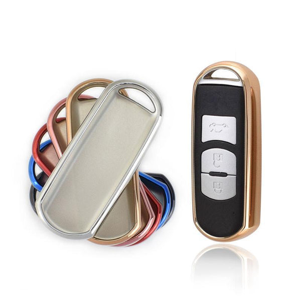 "TPU CAR 'KEYLESS ENTRY' ""SMART"" KEY FOB REMOTE COVER CASE SKIN SLEEVE JACKET FOR Mazda"
