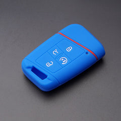 SILICONE Rubber 4 BUTTON Smart Keyless Entry KEY FOB COVER CASE SKIN Jacket FOR VW Volkswagen Tiguan Passat Golf