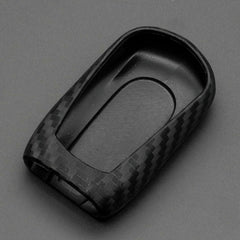 Silicone Carbon Fiber Pattern Key Fob Remote Cover Case For Buick Encore Envision Lacrosse Enclave Regal HYQ4EA