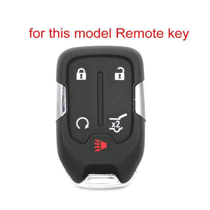 Silicone Protective 5 Button Smart Key Fob Remote Cover Case