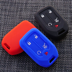 Silicone Protective 5 Button Smart Key fob Remote Cover Case Jacket Skin For Chevrolet / GMC Terrain, Acadia (2018 2019+)