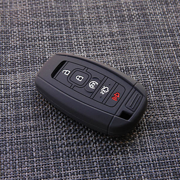 Silicone Protective 5 Button Smart Keyless Entry Key Fob Remote Cover Case Jacket Skin For for Lincoln Continental MKZ MKC