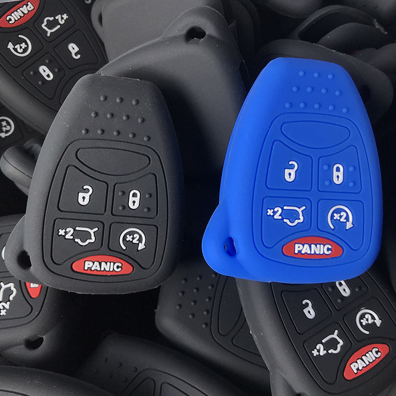 Silicone 5 Button Protective Key Fob Remote Transmitter Cover Case Skin Jacket for Jeep/ Chrysler / Dodge / GM