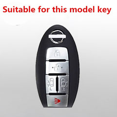 Silicone Rubber 5 Button Remote Key Fob Silicone Case Cover Skin Jacket For for Nissan Quest