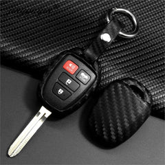 Silicone Carbon Fiber Toyota 2/3/4 Button Key Fob Cover Skin for Camry, Corolla, Prius C, Highlander, RAV4, Yaris