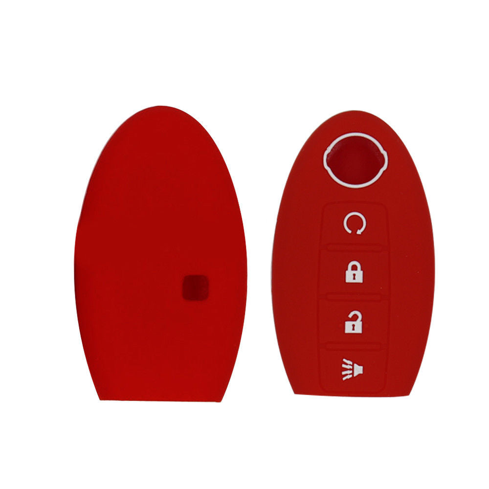 Silicone Rubber 4 Button Key Fob Cover Case for Nissan Kicks, Pathfinder, Murano, Titan