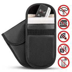 Car Key Fob Signal Blocker Pouch - RFID Blocking, Anti-Theft, Credit Card Protection -  (2 Pack)