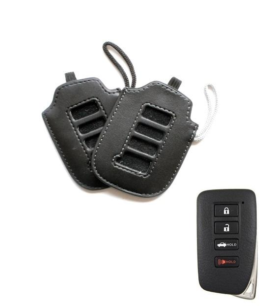 2x LEXUS SMART KEY REMOTE LEATHER PROTECTIVE CASE COVER BAG GLOVE JACKET POUCH LS RX GS