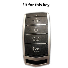 Silicone 4 Button Keyless Entry Fob Cover Remote Case Jacket for Hyundai Genesis G90 G80 (SKU: HYUS4G)