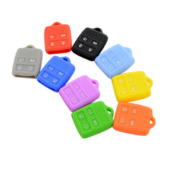 Silicone 4 Button Remote Car Key Fob Case Cover for Ford Lincoln Mercury [SKU: FRDS4A]