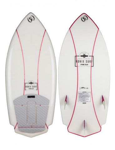 "RONIX WOMEN'S NAKED TECHNOLOGY POTBELLY ROCKET 4'3"" NATURAL WHITE/PINK"