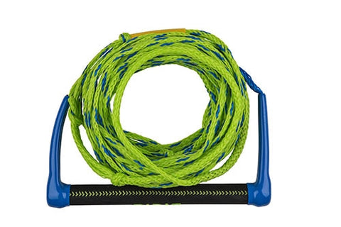 "GLOBAL WATER SPORTS - 13"" SUEDE HANDLE 75' ROPE - BLUE/GREEN"