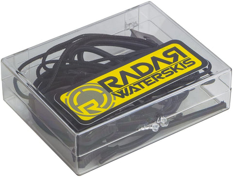 RADAR LACE LOCK KIT - BLACK (1 PAIR LACE- 1 PAIR BUNGEE AND LOCKS)