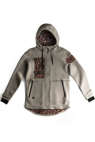 FOLLOW LAYER 3.1 2 NEO ANORAK BLACK/LEOPARD CAMO/COFFEE