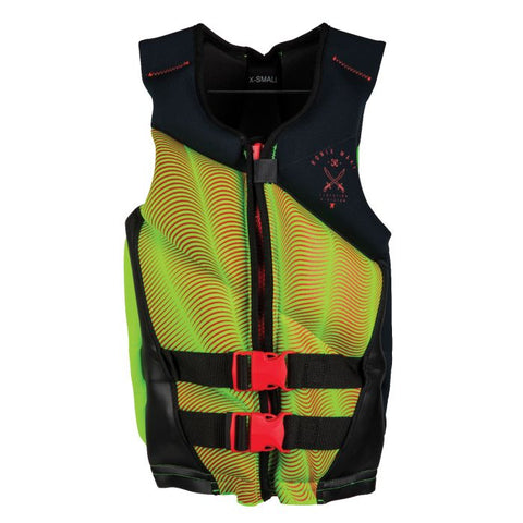 DRIVER'S ED CAPELLA- 2.0 CGA LIFE VEST SIZE-TEEN (75-125LBS) BLACK/LIME/RED