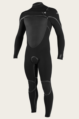 O'NEILL PSYCHO TECH 4/3+MM CHEST ZIP FULL WETSUIT BLACK/BLACK