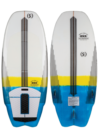 "RONIX KOAL W/ TECHNORA-CROSSOVER 4'5"" WHITE/YELLOW/BLUE"