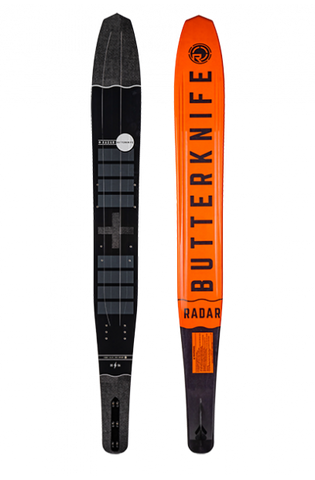 RADAR BUTTER KNIFE SIZE 67 - BLACK/GUN METAL/ORANGE