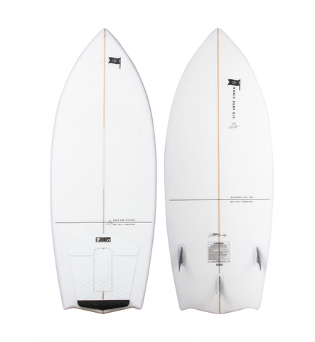 RONIX FLYWEIGHT BAT TAIL THRUSTER - ALPINE WHITE - SIZE 4'5""