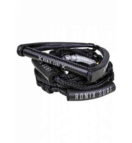 "RONIX SPINNER CARBON SYN. SURF ROPE - 10"" HANDLE W/ROPE - CARBON"