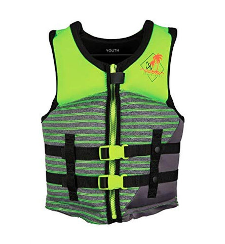 VISION BOY'S- CGA LIFE VEST SIZE-YOUTH(50-90LBS) LIME HEATHER