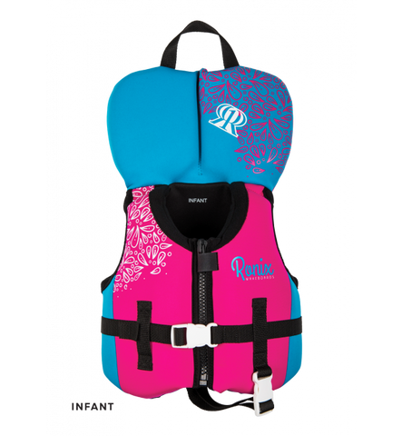 AUGUST GIRL'S- CGA LIFE VEST SIZE-INFANT/TODDLER(UP TO 30LBS) PINK/BLUE