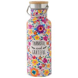 Thankful and Grateful Water Bottle, Natural Life 18 oz-Gifts @ Home Decor-TERRA COTTA BOUTIQUE