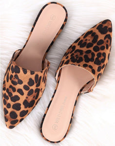 Leopard Suede Slip On Flats-footwear-TERRA COTTA BOUTIQUE