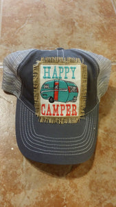 Happy Camper ball cap.-Accessories-TERRA COTTA BOUTIQUE