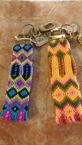 Key Chain. Hand woven.-Accessories-TERRA COTTA BOUTIQUE