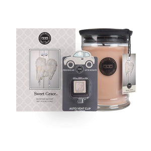Sweet Grace Git Pack. Large Candle, Car vent Clip and a Sachet.-Gifts @ Home Decor-TERRA COTTA BOUTIQUE