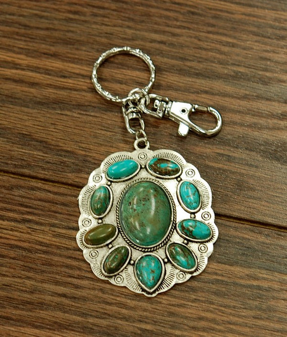 Turquoise Bag Holder & Key Holder-Accessories-TERRA COTTA BOUTIQUE