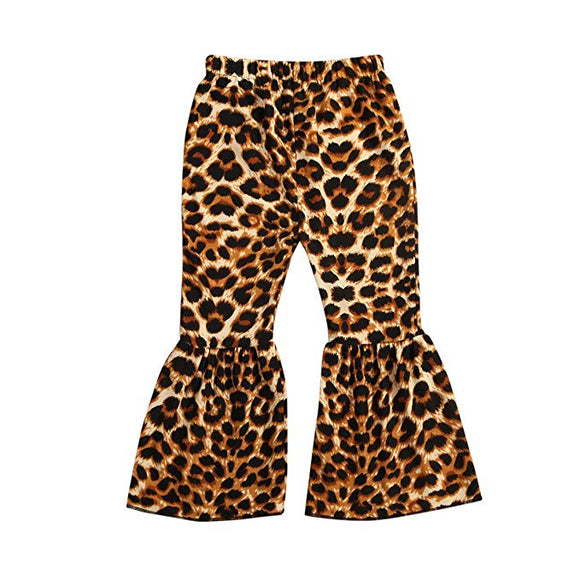 Kids Leopard Bell Bottom Pant-Children's Clothing-TERRA COTTA BOUTIQUE