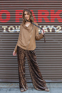 Bo-Ho Style Leopard Bell Pants.-Women's Apparel-TERRA COTTA BOUTIQUE