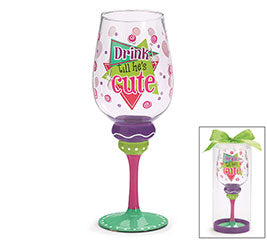 Party Glass. Drink Til He's Cute.-Gifts-TERRA COTTA BOUTIQUE