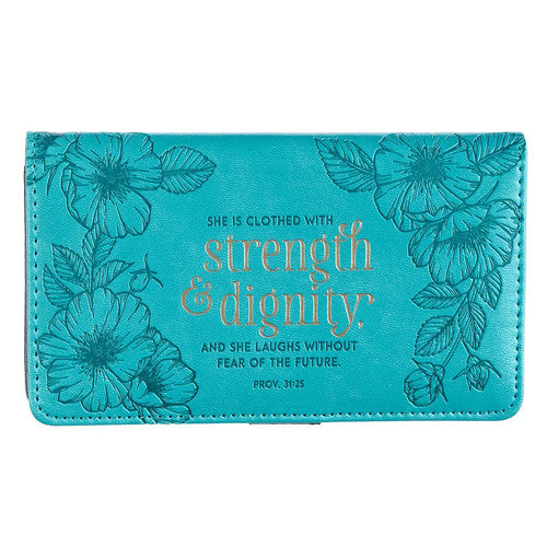 Checkbook Cover, Strength and Dignity, Proverb 13:25-Gifts-TERRA COTTA BOUTIQUE