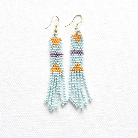 Ink + Alloy seed beaded earrings-Accessories-TERRA COTTA BOUTIQUE