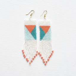 Ink + Alloy Beaded earrings. Aztec.-Accessories-TERRA COTTA BOUTIQUE