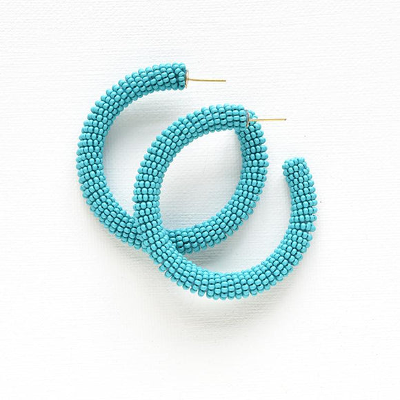 Ink + Alloy beaded hoop earrings.-Accessories-TERRA COTTA BOUTIQUE