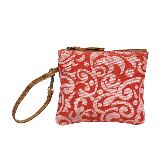 Myra Cherry Floral Pouch.-Handbags-TERRA COTTA BOUTIQUE