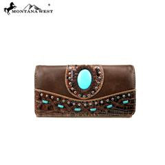 Genuine leather Wallet. Cell phone pocket.-Handbags-TERRA COTTA BOUTIQUE